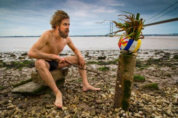 Hullywood Icon number 16 Film: Cast Away Location: Humber Bridge.
