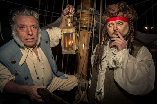 Hullywood Icons numbers 86 and 87 Film: Pirates of the Caribbean Location: HMS Pickle, Hull Marina.