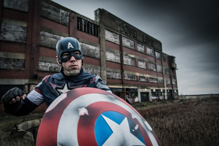 Hullywood Icons number 128 Film: Captain America:The First Avenger Location: The Lord Line Building.