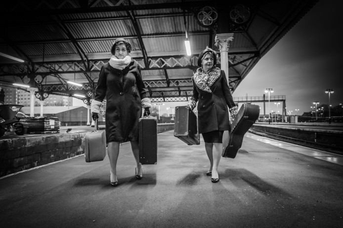 Hullywood Icons numbers 124 and 125 Film: Some Like It Hot Location: Hull Paragon Station.