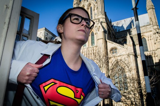 Hullywood Icon number 168 Film: Superman Location: White phone box in Beverley near Minster.